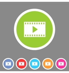 Film video cinema photo icon flat web sign symbol vector image