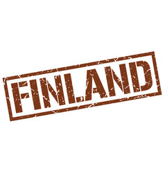 Finland brown square stamp vector