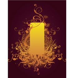floral graphic frame vector image vector image