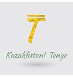Golden Symbol of Kazakhstan Tenge vector image vector image