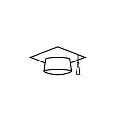 graduation cap line icon education high school vector image vector image