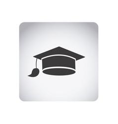 gray emblem graduation hat icon vector image vector image
