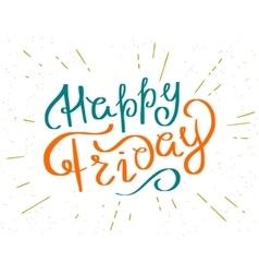 Happy friday vector