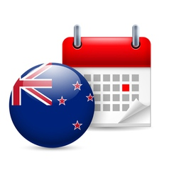 Icon of national day in new zealand vector