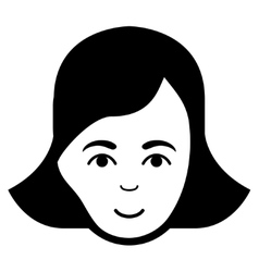 Lady face flat icon vector
