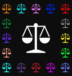 Libra icon sign lots of colorful symbols for your vector