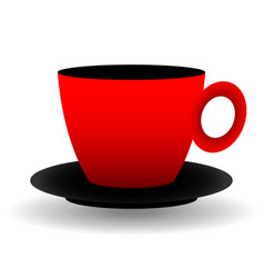 red and black cup vector image