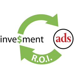 ROI ads return on investment vector image