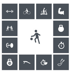 Set of 13 editable healthy icons includes symbols vector