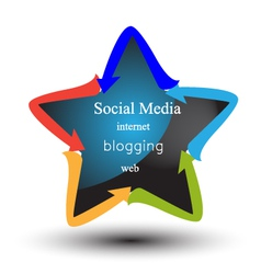 Social media and networking logo vector