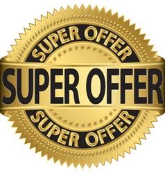Super offer golden label vector image