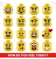 Toy Block Emoji Games Isometric vector image