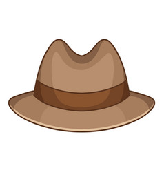 trilby icon cartoon style vector image