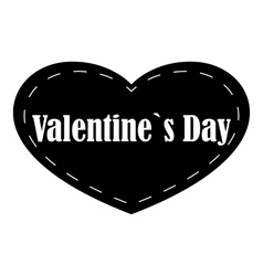 Valentines day icon simple style vector