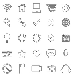 Web line icons on white background vector image vector image