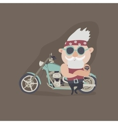 My grandfather forever young biker vector