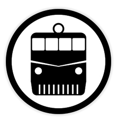 Locomotive button on white vector