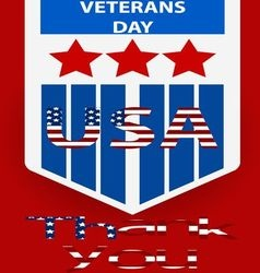 Poster of veterans day concept vector