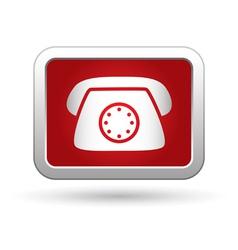 Telephone receiver icon vector