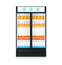 Freezer realistic template vector