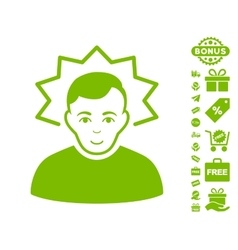 Inventor icon with free bonus vector