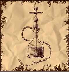 Hookah icon on vintage background vector