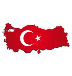 Turkey flag amp map vector