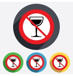 Wine glass sign icon do not drink alcohol vector