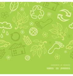 Environmental horizontal frame seamless pattern vector