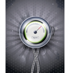 Icon speedometer or clock eps vector