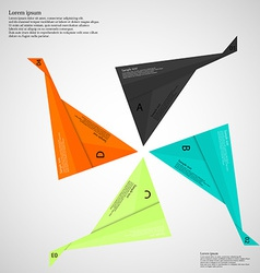 Infographic consists of four folded paper pieces vector