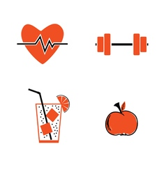 Healthy icon vector