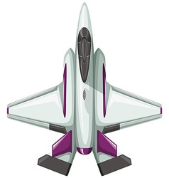 Modern design of fighting jet vector