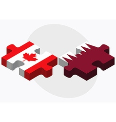 Canada and qatar flags vector