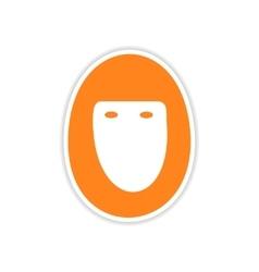 icon sticker realistic design on paper hijab vector image
