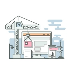 Construction website linear style vector