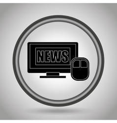 Breaking news design vector