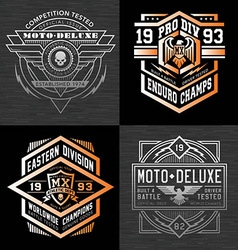 Motorcycle sports racing t-shirt graphics vector image