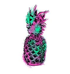 Pineapple fruit color art design for summer vector