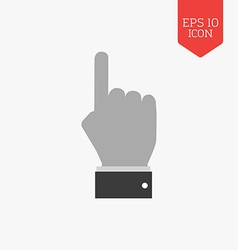 Hand with pointing finger icon flat design gray vector
