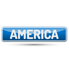 America - abstract beautiful button with text vector
