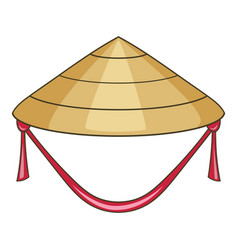 asian conical hat icon cartoon style vector image