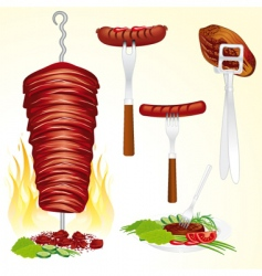bbq meat vector image