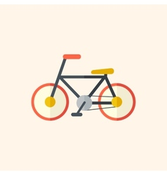 Bicycle travel flat icon vector