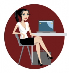 business woman vector image vector image