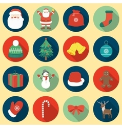 Christmas Icons set Flat design vector image vector image