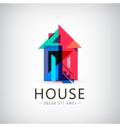 Colorful geometric house vector