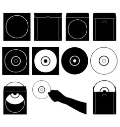compact discs and cases vector image vector image