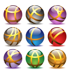 glass balls set vector image