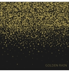 Golden rain background vector image vector image
